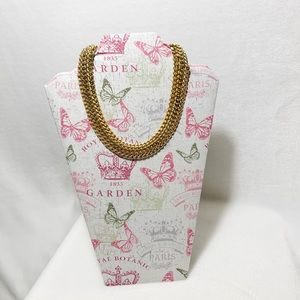 Premier Designs Gold Tone Woven Chain Necklace